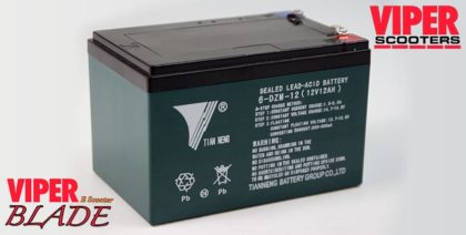 Electric Scooter Lead Acid Battery 12V 12Ah, Viper Blade