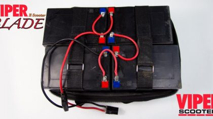 Electric Scooter Lead Acid Battery Pack 48V 12Ah, Viper Blade