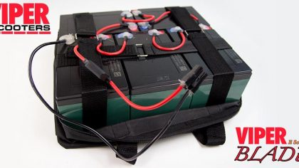 Electric Scooter Lead Acid Battery Pack 60V 12Ah, Viper Blade