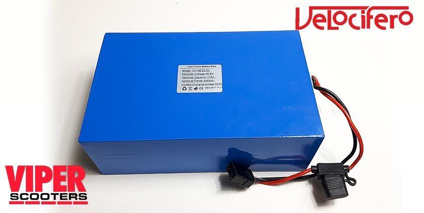 Velocifero Scooter Lithium Battery 48V 20Ah
