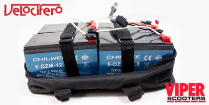 Electric Scooter Lead Acid Gel Battery Pack 48V 12Ah, Velocifero 1600W