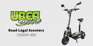 UberScoot 1000W 48V Electric Road Legal Scooter