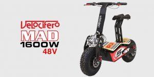 Velocifero Mad 1600W 48V Electric Scooter - Race No 5