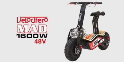 Velocifero Mad 1600W 48V Lead Acid Electric Scooter (Race No 5)
