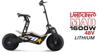 Velocifero Mad 1600W 48V Lithium Electric Scooter