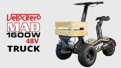 Velocifero Mad 1600w 48V Electric Scooter Truck