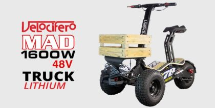 Velocifero Mad 1600w 48V Lithium Electric Scooter Truck