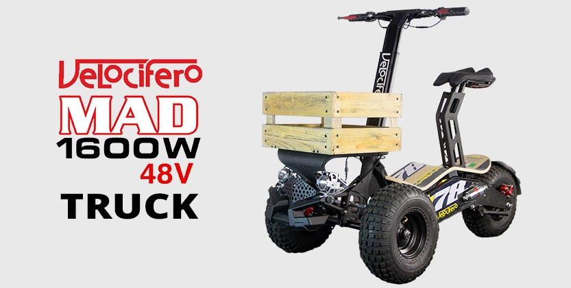Velocifero Mad 1600w 48V Electric Scooter Truck