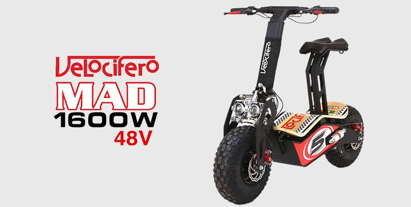 Velocifero Mad 1600W 48V Electric Scooter - Race No 5