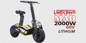 Velocifero Mad 2000W 60V Lithium Electric Scooter