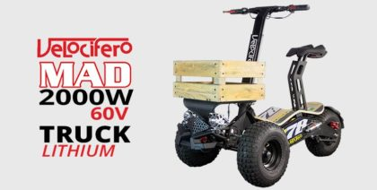 Velocifero Mad 2000w 60V Lithium Electric Scooter Truck