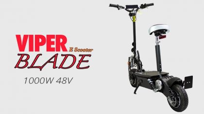 Viper Blade 1000W 48V Electric Scooter – Black