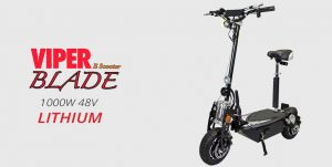 Viper Blade 1000W 48V Electric Scooter with Lithium Battery
