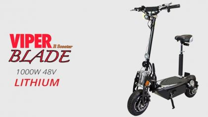 Viper Blade 1000W 48V Lithium Electric Scooter – Black