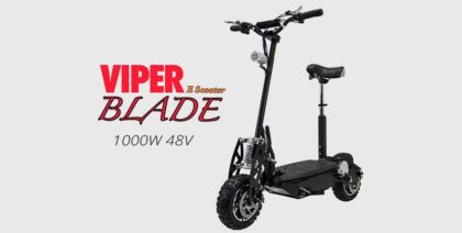 Viper Blade 1000W 48V Road Legal Lead Acid Electric Scooter – Black