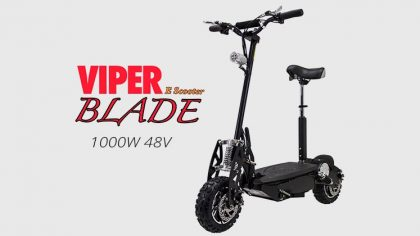 Viper Blade 1000W 48V Road Legal Electric Scooter – Black