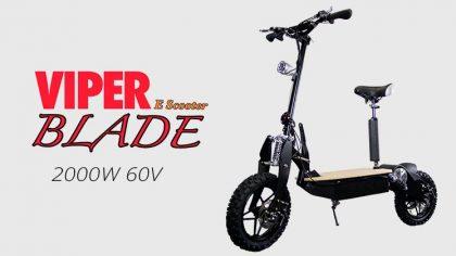 Viper Blade 2000W 60V Electric Scooter – Black