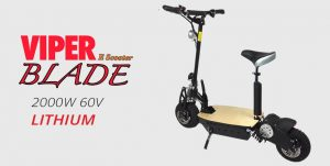 Viper Blade 2000W 60V Lithium Electric Scooter