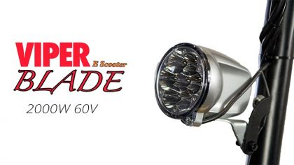 Electric scooter Headlight, Viper Blade 2000W