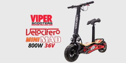 Velocifero Mini Mad 800W 36V Lithium Electric Scooter