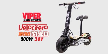 Velocifero Mini Mad 800W 48V Lithium Electric Scooter