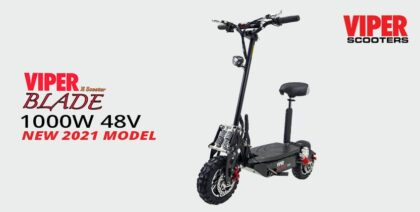 Viper Blade 1000W 48V Lead Acid Electric Scooter – Black