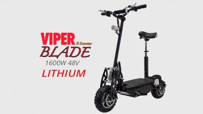 Viper Blade 1600W 48V Lithium Electric Scooter – Black