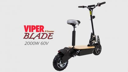 Viper Blade 2000W 60V Electric Scooter – Black