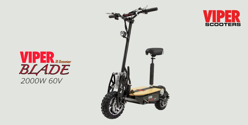 Viper Blade 2000W 60V Electric Scooter - Black