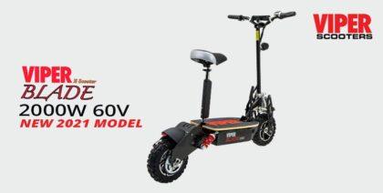 Viper Blade 2000W 60V Lead Acid Electric Scooter – Black