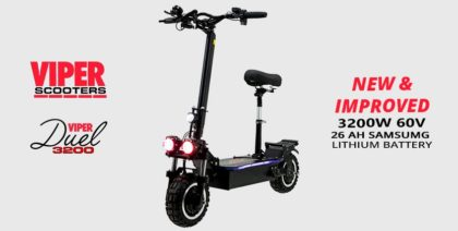 Viper Duel 3200W 60V 26 AH Samsung Lithium Electric Scooter