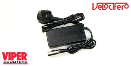 Electric Scooter 36V Lithium Battery Charger, Velocifero Mini Mad 800W