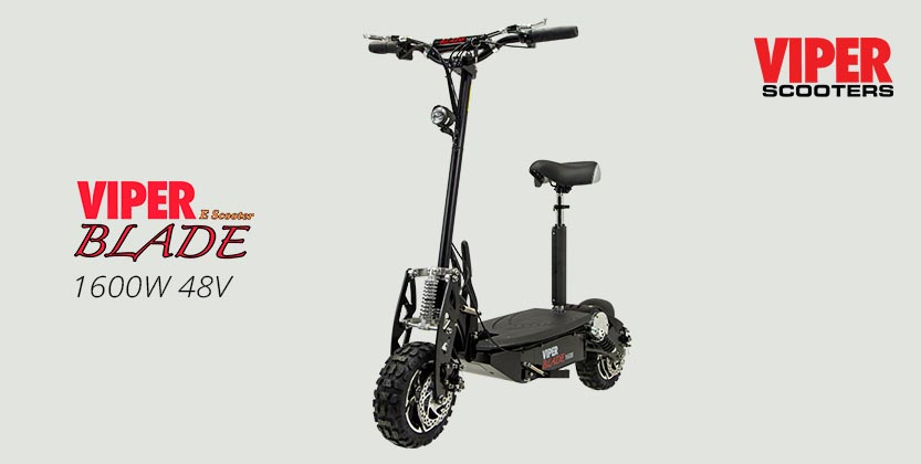 Viper Blade 1600W 48V Electric Scooter - Black