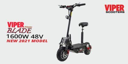 Viper Blade 1600W 48V Lead Acid Electric Scooter – Black
