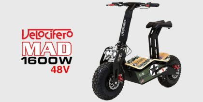 Velocifero Mad 1600W 48V Electric Scooter (ARMY)