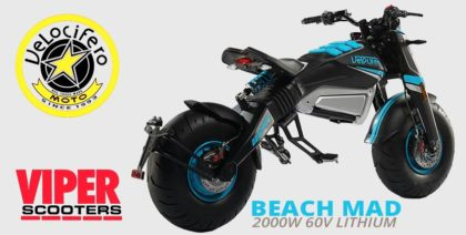 Velocifero Beach Mad 2000W 60V Lithium Road Legal Electric Motorbike