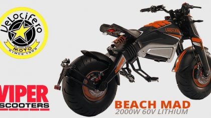 Velocifero Beach Mad 2000W 60V Lithium Road Legal Electric Scooter