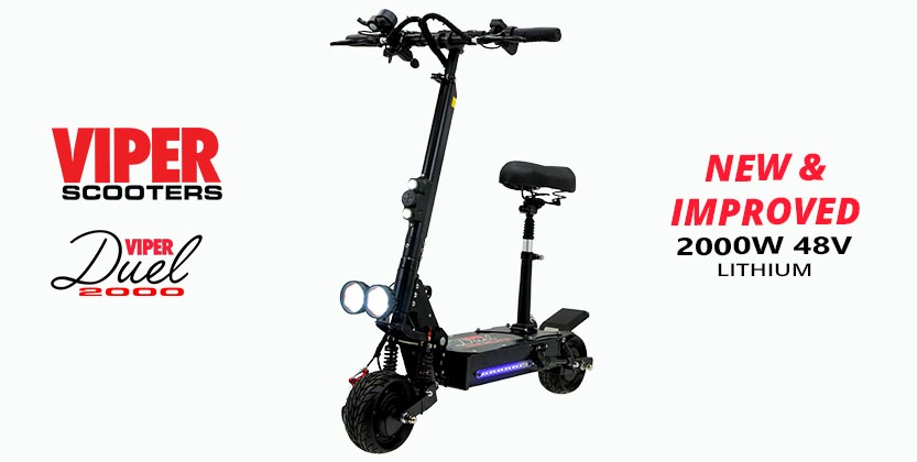 Viper Duel 2000W 60V Lithium Electric Scooter