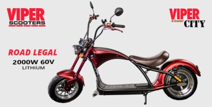 Viper City 2000W 60V Lithium Road Legal Electric Scooter