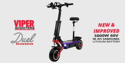 Viper Duel 5000W 60V 35AH Samsung Lithium Electric Scooter