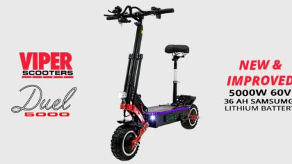 Viper Duel 5000W 60V 36AH Samsung Lithium Electric Scooter