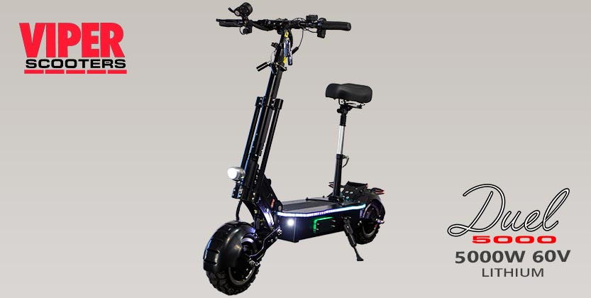 Viper Duel 5000W 60V 30AH Lithium Electric Scooter