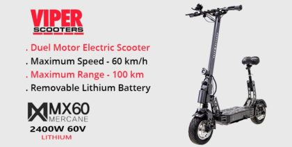 Mercane MX 60 2400W 60V Duel Motor Electric Scooter