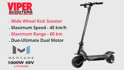 Mercane Wide Wheel 1000W 48V Duel Motor Electric Scooter