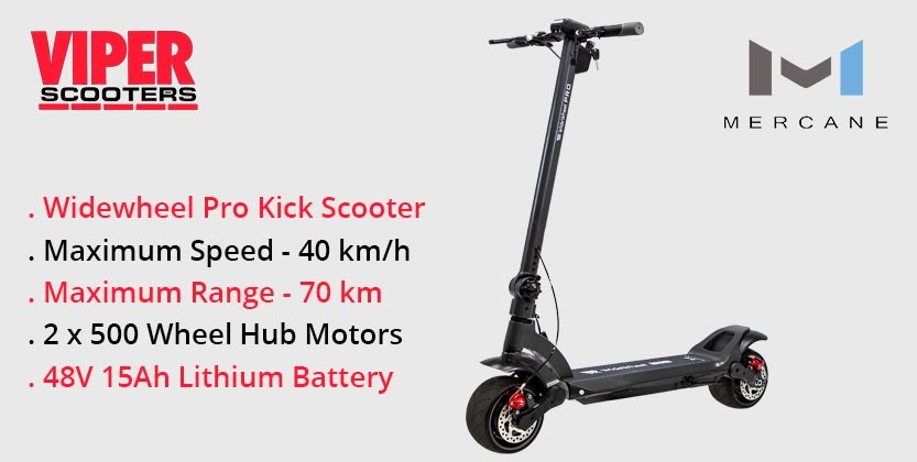 Mercane Widewheel Pro 1000W 48V Duel Motor Electric Scooter
