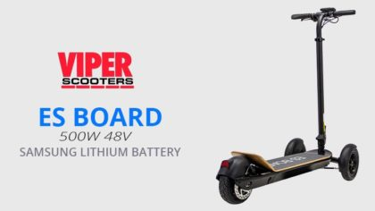 ES BOARD 500W, 48V 8.8Ah Samsung Lithium Battery, Electric Foldable 3-wheel Scooter