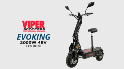 Viper Evoking Duel 2000W 48V Lithium Road Legal Electric Scooters