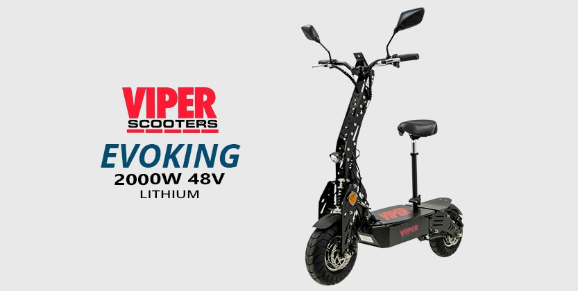 Viper Evoking Duel 2000W 48V Lithium Electric Scooters