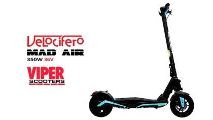 Velocifero Mini Mad Air 350W 36V Lithium Electric Folding Scooter