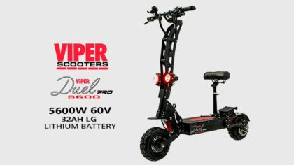 Viper Duel Pro 5600W 60V 32AH LG Lithium Electric Scooter